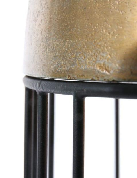 draadlamp met goud metaal