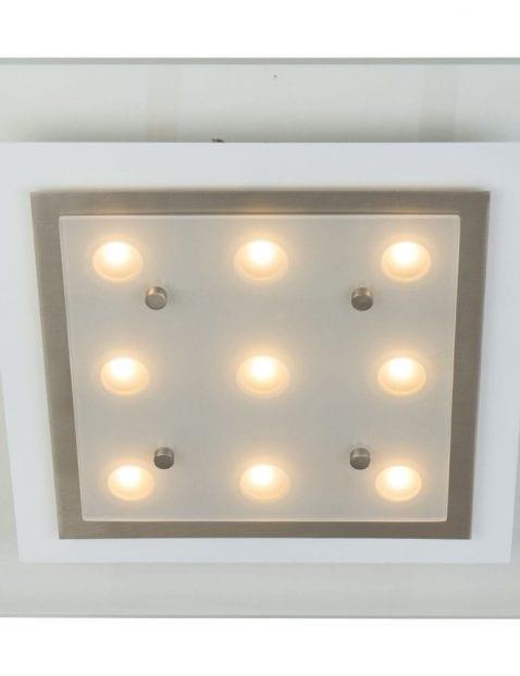 glazen vierkante led plafondlamp