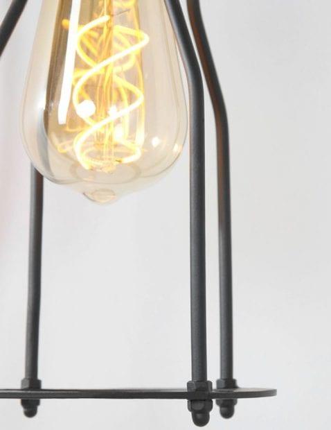 goudkleurige met zwart hanglamp