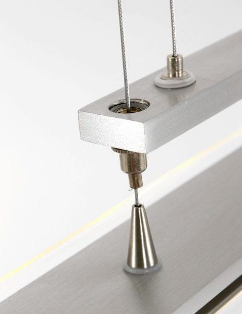 in hoogte verstelbaar stalen hanglamp