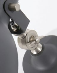 industriele grijze wandlamp