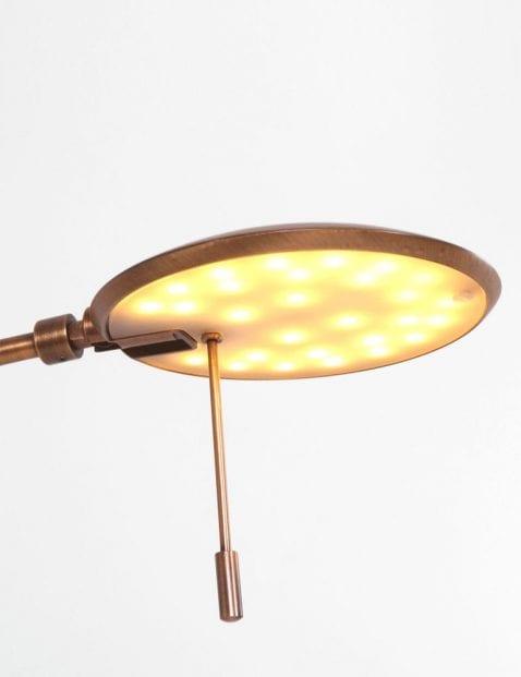 klassieke bronzen led leeslamp