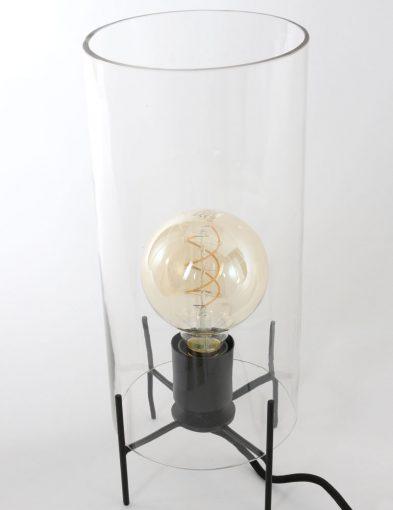 lamp met glazen kap