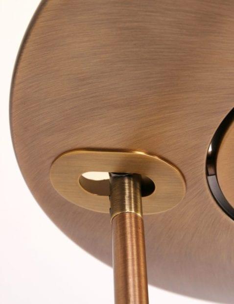 led bronzen vloerlamp
