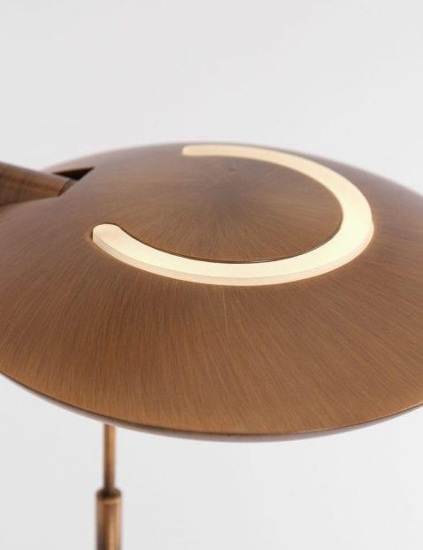 led bronzen vloerlamp met led leeslamp