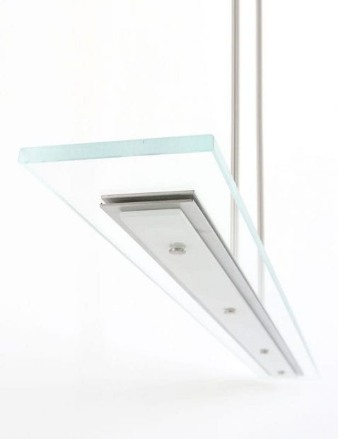 led hanglamp met glazen plaat