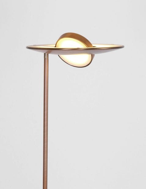 led metalen bronzen vloerlamp