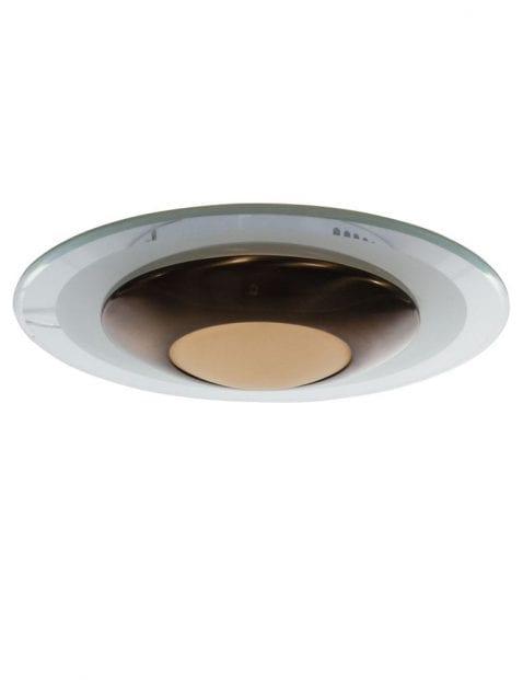 Bronzen ronde plafondlamp Steinhauer Zelena