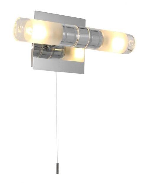 led stalen wandlamp