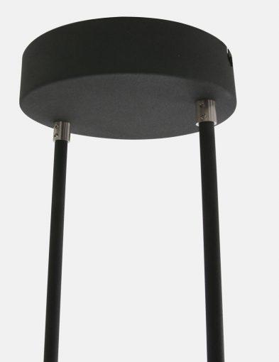 led stalen zwarte hanglamp