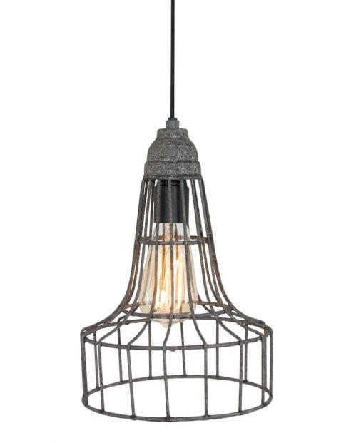 metalen draadhanglamp