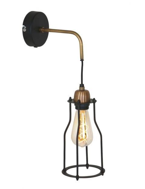 metalen hanglamp met koper