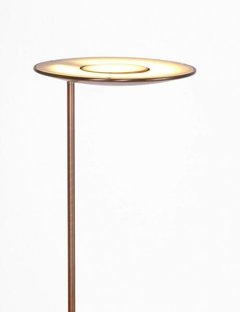 metalen led bronzen vloerlamp