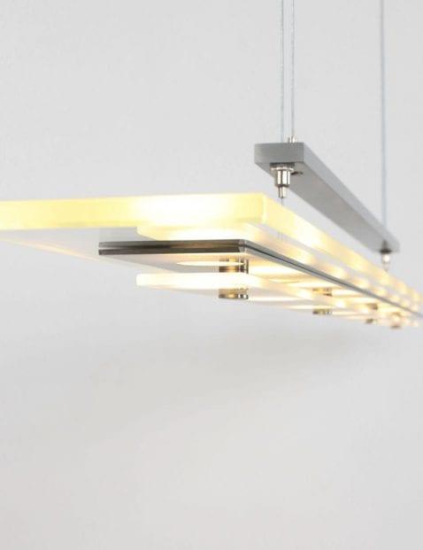 moderne stalen led hanglamp