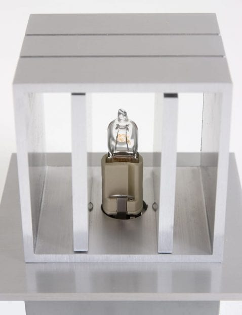 moderne stalen led wandlampje