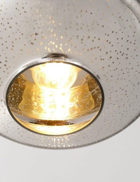 oosterse staalkleurige hanglamp