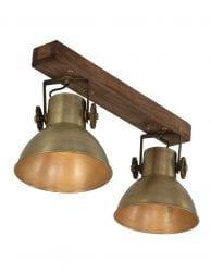 plafondspot met 2 lichts kappen