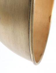 spot plafondspot 2 lichts hout en metaal