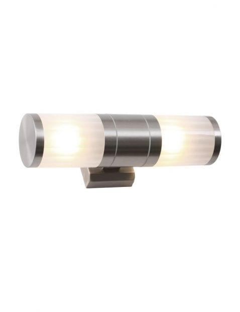 staal en glas buitenlamp