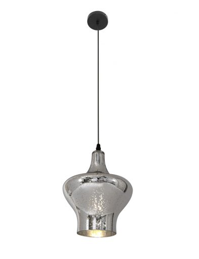 staalkleurige oosterse hanglamp