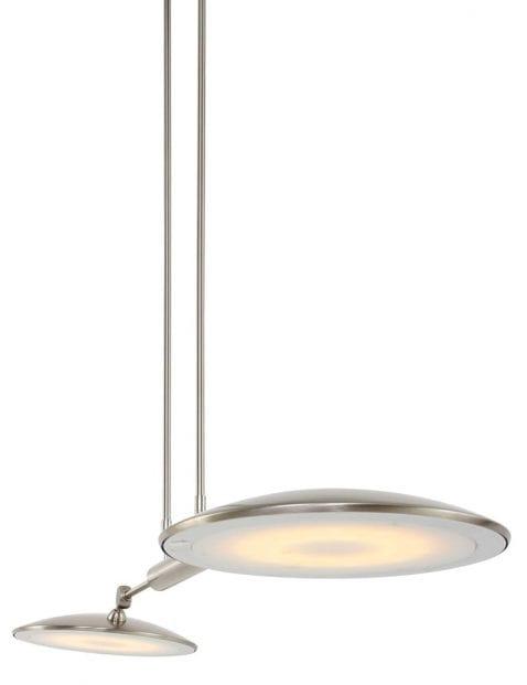 Tweelichts hanglamp met schotels LED Steinhauer Nadir staal