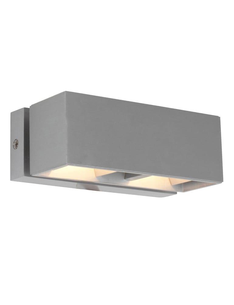 Stoere wandlamp steinhauer liberstas geborsteld staal for Stoere wandlamp