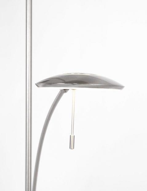stalen metalen vloerlamp met leeslicht