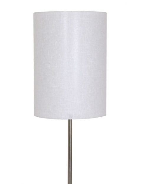 stalen vloerlamp met witte kap