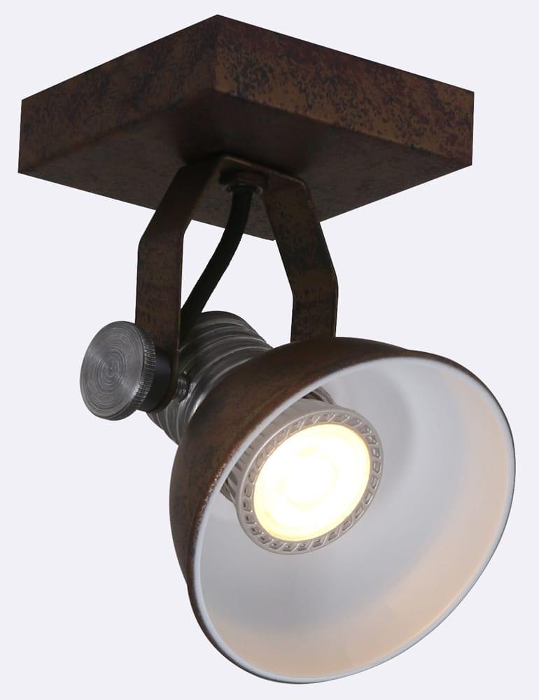 Praktische plafondspot steinhauer brooklyn bruin for Stoere wandlamp