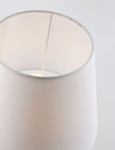tafellamp bruin en wit