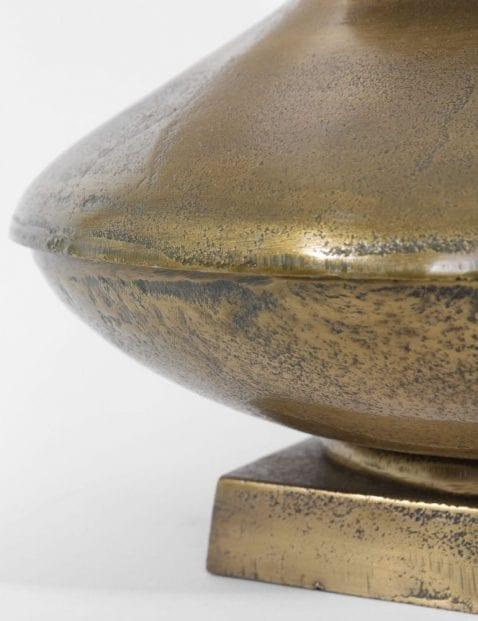 tafellamp met bronzen voet