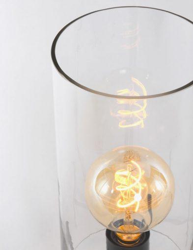 tafellamp met glazen kapje