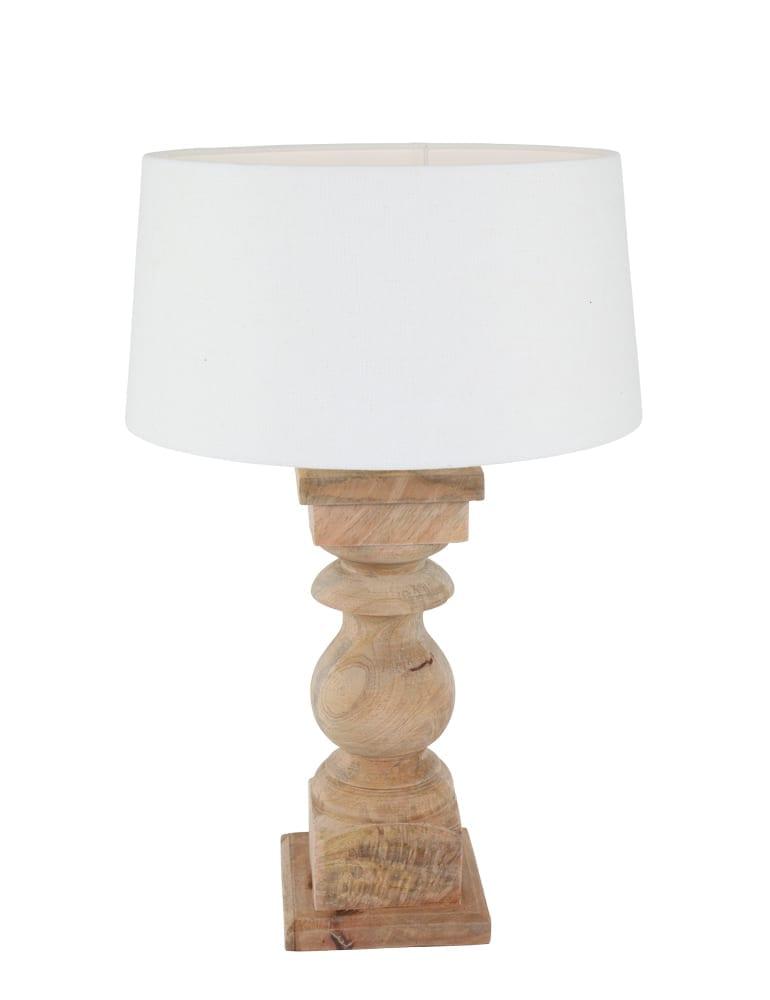 Fabulous Houten tafellamp Light&Living Cadore wit - Directlampen.nl SE34
