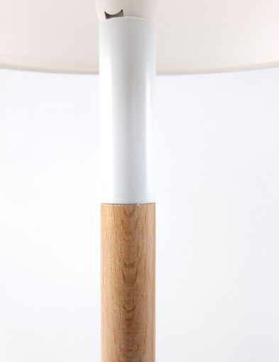 tafellamp wit en bruin