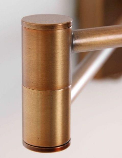 verstelbare bronzen leeslamp