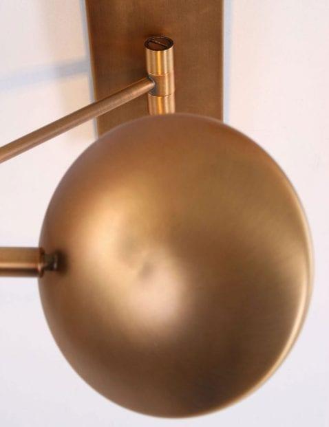 verstelbare bronzen wandlamp