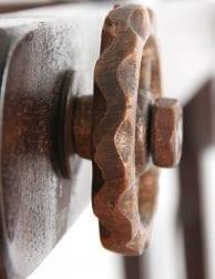 verstelbare houten vloerlamp
