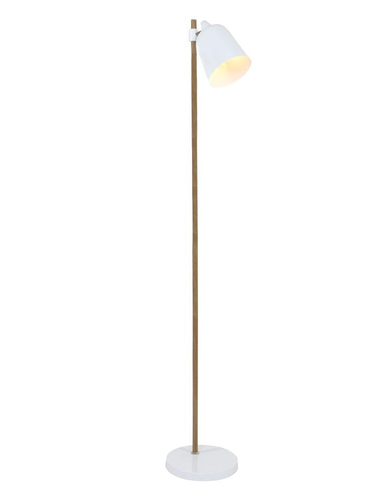 scandinavische staande lamp leitmotiv wood-like wit - directlampen.nl