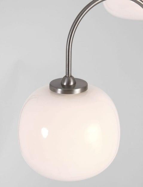 vloerlamp met 3 verschillende bollen
