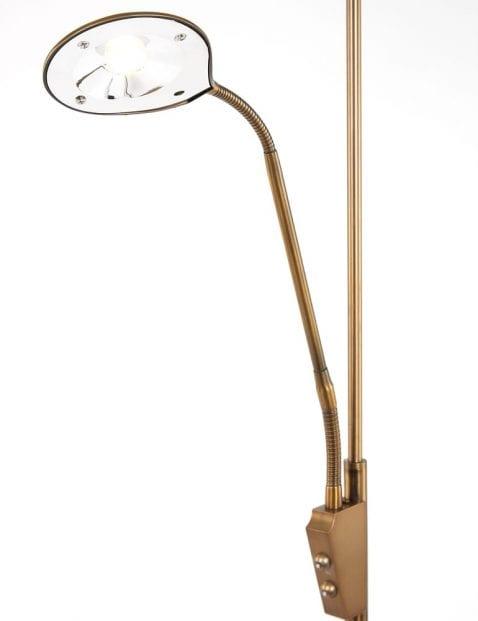 vloerlamp met verstelbare led leeslamp