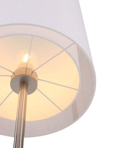 vloerlamp met witte kap