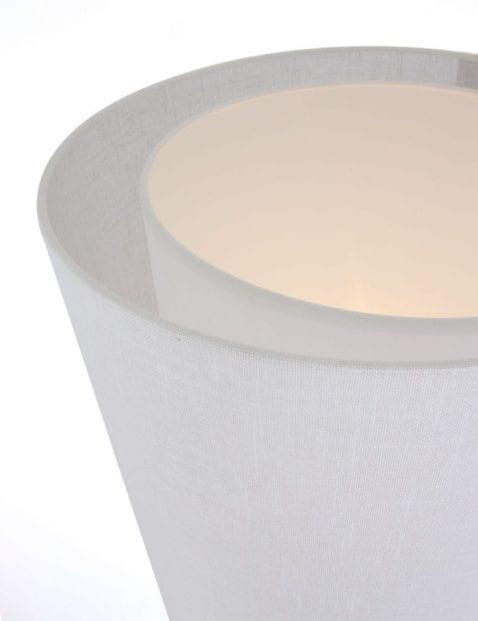 vloerlamp witte kap