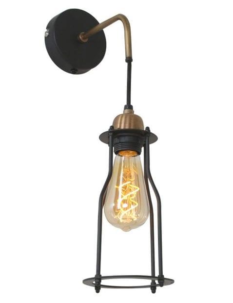 wandlamp goud