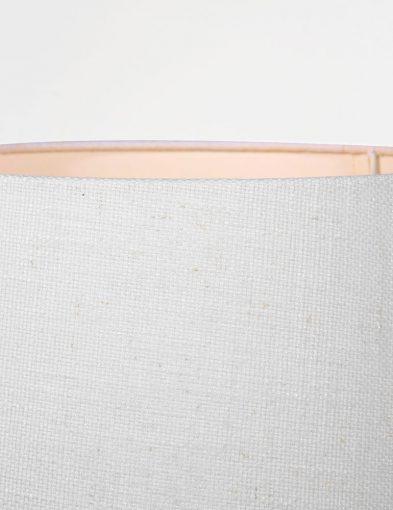witte kap op bronzen tafellampvoet