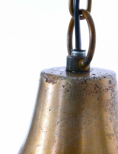 zwart met gouden metalen draadhanglamp