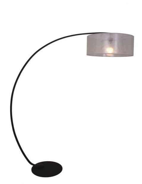 zwart metalen booglamp