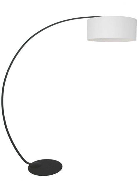 zwarte booglamp witte kap
