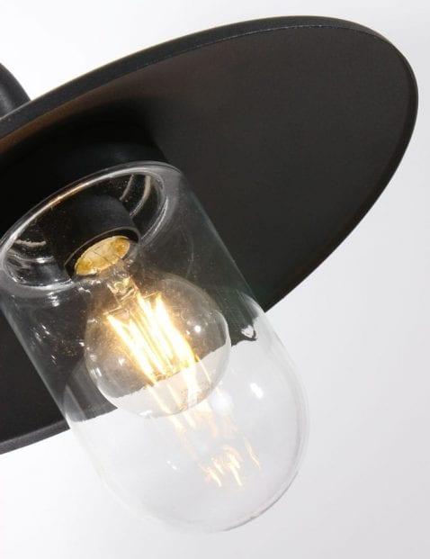 zwarte buiten wandlamp