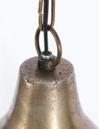 zwarte draadlamp met goudmetaal