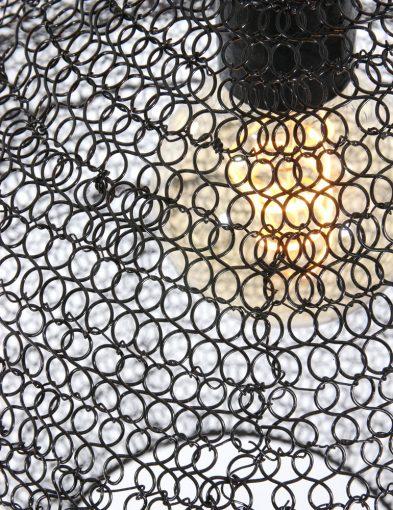 zwarte hanglamp van gaas